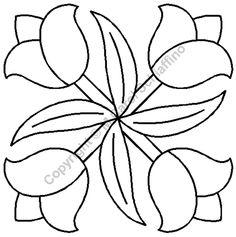 """Tulip Block 7"""" Stencil"""