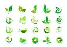 Leaf logo,nature green ecology and wellness people,beauty spa,symbol icon set of vector designs Icon Design, Web Design, Vector Design, Logo Design, Logo Biologique, Modelo Logo, Tea Logo, Wood Logo, Organic Logo