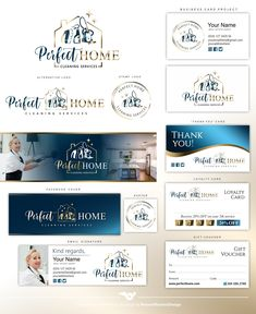 House cleaning logo, Cleaning logo design, Premade logo, Cleaning service, Cleaner logo, Disinfection logo, Cleaning company logo set 439 2