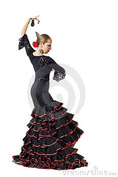 Flamenco dancerwith castanets by Andrii Deviatov, via Dreamstime
