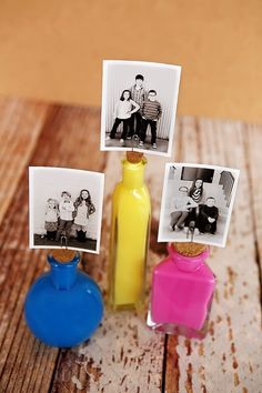 Cute idea for displaying photos! Never would of thought to use cork! I love it!