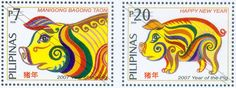 Stamps featuring the Year of the Pig | Philippine-