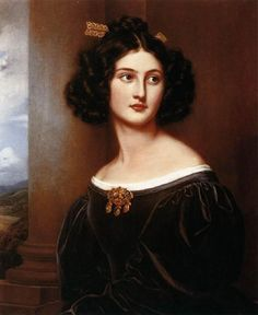 "books0977: ""Nanette Kaula (1812-1877), 1829. Joseph Karl Stieler (German, 1781–1858). Oil on canvas. Schloss Nymphenburg, Munich. Kaula, age 17, the daughter of the head of the Jewish community, was..."