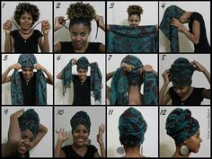 African head wrap styles