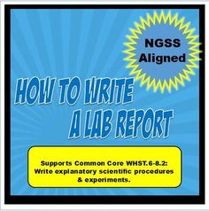 This is a student reference sheet on how to write a lab report at the middle school level.It breaks it down section by section. The conclusions section is also broken down into smaller sections under the principle of RERUNS. Which has the student go back through their lab and address each section.