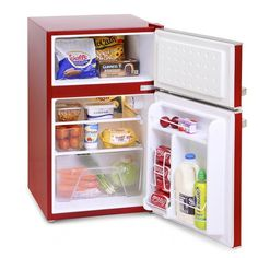 <p>This under counter fridge freezer from Montpellier comes in an excellent retro design whilst providing an A* energy rating. This fridge freezer has a capacity of 89ltrs and also includes a can dispenser. Comes with a 2 year parts and labour guarantee.</p><br /> <br /> <br /> <br />