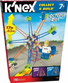 K'NEX Micro Amusment Octopus Ride Building Set by K'NEX. $29.95. Perfect for builders ages 7+. Build your own miniature Octopus Ride. 190+ K'NEX parts. From the Manufacturer                Build your own mini Amusement Park, starting with the Octopus Ride!  Loaded with over 190 K'NEX rods, connectors and bricks to build a miniature Octopus Ride.  Start your collection with the Octopus Ride, then get the Pirate Ship and Swing Ride too! Perfect for builders age 7 and up....