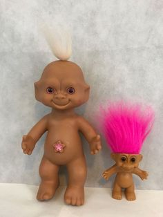 Vintage Pink Hair Troll Dolls Star Bellybutton Collectible Gift   Dolls & Bears, Dolls, By Type   eBay!