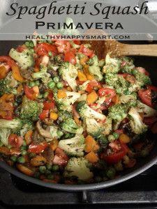 Spaghetti Squash Primavera Recipe - vegan, gluten free, Paleo, vegetarian, eat clean, clean eating recipe