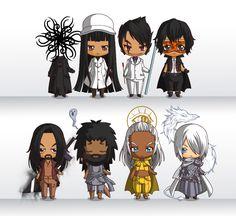 "botanicaxu: ""Some SA mini figures created by the Chibi Maker: 1. Peoples of Roshar 2. Court Nobles: Navani, Gavilar, Elhokar, Jasnah & Ivory, Dalinar, Adolin, Renarin // Shallan, Wit, Sadeas, Amaram,..."