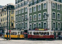 Old trams, Lisbon