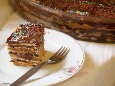 Receita de Torta de bolachas marmorizada