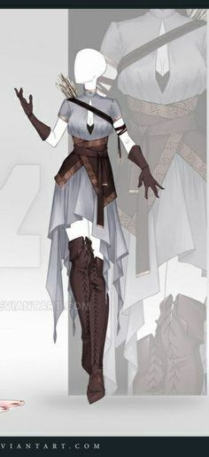 Cosplay Outfits, Anime Outfits, Girl Outfits, Clothing Sketches, Dress Sketches, Fashion Illustration Sketches, Fashion Design Sketches, Elven Princess, Super Hero Outfits