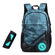 School Backpack Men Women For Teenagers 2018 Oxford Fashion Laptop Men s  Backpacks Backpack Male Bolsa Mochila Luminous Zipper fa291c7bdeaca