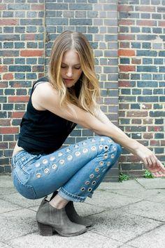 Revamped Levi's & suede booties   Rebel Rebel Jeans by #nastygal