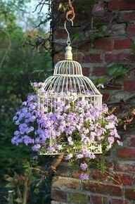 Bird cage Wedding Ideas, Diy Wedding, Hanging Flower Baskets, Front Porches, Basket Ideas, Elegant Flowers, Garden Wedding Decorations, Yard Art, Diy Ideas