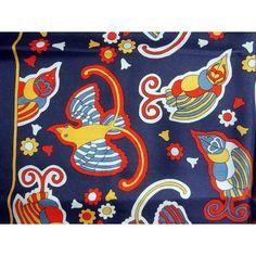 Liberty Bright Bold Very Unusual Birds Vintage Silk Scarf £27