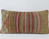 rustic kilim pillow cover woolen kilim rug bohemian outdoor pillow geometric turkish rug folk art turkish cushion cover orange pillows 19926