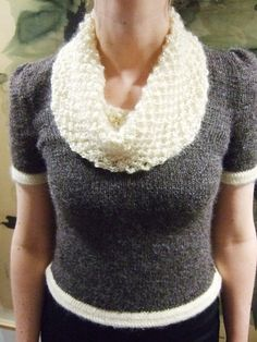 When Sampson Meet Lila sweater from Knitty. Lookit that seed stitch cowl!