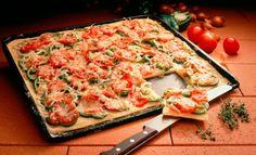 Kartoffel-Pizza mit Paprika und Tomate | Pfanni