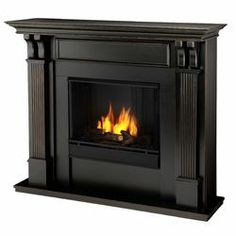 Fireplace with TV On Top | Real Flame Ashley Gel Fuel Fireplace | Wayfair