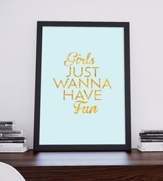 Girls just wanna have fun Qoute Printable by BlessLifePrints Qoutes, Have Fun, Blessed, Printable, Trending Outfits, Unique Jewelry, Handmade Gifts, Girls, Artwork