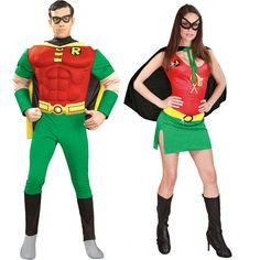 Pareja Disfraces de Robin #parejas #disfraces #carnaval
