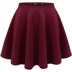Thanth Womens Versatile Stretchy Pleated Flare Skater Skirt ($9.99) ❤ liked on Polyvore featuring skirts, bottoms, saias, faldas, knee length pleated skirt, stretch skirts, purple pleated skirt, pleated skater skirt and flared hem skirt