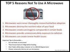 Why It's Time To Throw Out Your Microwave....We have not used a microwave for a few years now because of these 5 Reason!