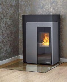 pelletofen hsp ii grundfarbe gussgrau schwarz vollautomatische raumtemperaturregelung mit. Black Bedroom Furniture Sets. Home Design Ideas