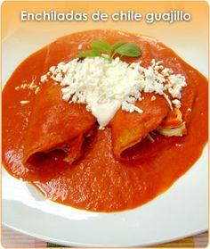 Enchiladas de Chile guajillo