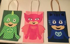 PJ Masks Favor Bags by JJCalebCrafts on Etsy