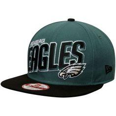5029120a565 Philadelphia Eagles New Era NFL Striker Snap Original Fit 9FIFTY Adjustable  Hat - Midnight Green Black