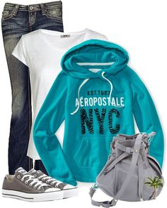 """Hoodie and Jeans"" by cindycook10 on Polyvore"