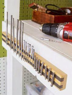 Entre Tantas Besteiras...: Dicas legais para arrumação de ferramentas e garagens