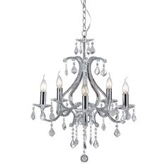 Zuo 50219 Palisade 5 Light Chandelier in Chrome
