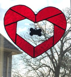 Stained Glass Heart Memorial or Special by ScrappyBirdArtGlass