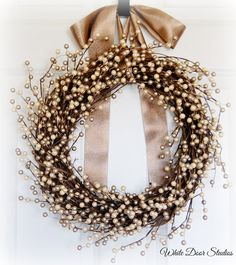 Hey, I found this really awesome Etsy listing at https://www.etsy.com/listing/250540326/champagne-pearl-berry-wreath-front-door