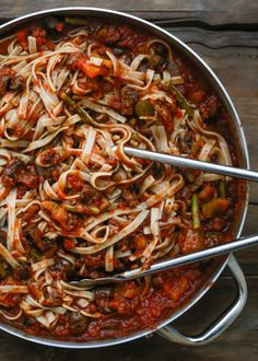 Hearty Vegetable Pasta | get the recipe at barefeetinthekitchen.com