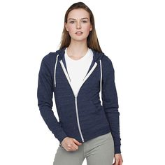 The AA024 Tri-Blend Terry by American Apparel is a unisex hoody with full zip. Suitable for customisation by embroidery or printing, this stylish zoodie is an ideal fashion garment. Please visit the Pier32 website at http://www.pier32.co.uk/product/aa024-tri-blend-terry/ to see this American Apparel zip-up hoodie in more detail. This unisex hoodie is available in 6 colours and 5 sizes.