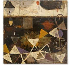 "ate shapes . 24"" x 24""	  Mixed Media on Panel  2010 . by nicholas wilton"