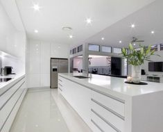 45 Top Ideas For Luxury White Kitchen Design Decor Ideas - Page 22 of 45 Modern Kitchen Interiors, Luxury Kitchen Design, Kitchen Room Design, Kitchen Cabinet Design, Luxury Kitchens, Home Decor Kitchen, Interior Design Kitchen, New Kitchen, Home Kitchens