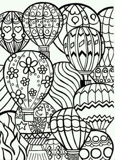 Coloring, zentangle, doodle