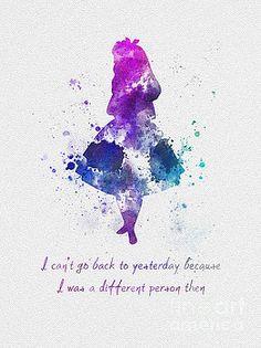 Alice in Wonderland quote ART PRINT illustration by SubjectArt - Art - Disney Characters Disney Kunst, Art Disney, Disney Love, Disney Magic, Disney Ideas, Disney And Dreamworks, Disney Pixar, Disney Characters, Funny Disney