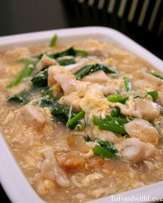 To Food with Love: Wat Dan Ho Fun (Flat Rice Noodles in Egg Gravy)