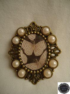 Broche perlas