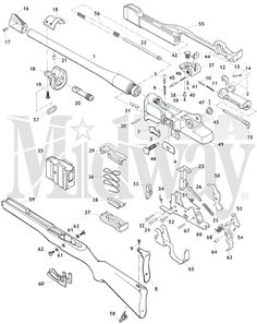 m1 garand schematic diagram m1 garand exploded diagram