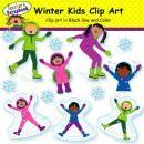 Winter Kids Clip Art product from TeacherScrapbook on TeachersNotebook.com
