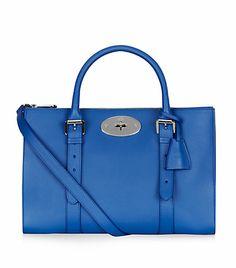 View the Bayswater Double Zip Tote by Mulberry Fashion Bags, Women's Fashion, Michael Kors Hamilton, Harrods, Designer Handbags, Women's Accessories, Zip, Purses, Shoe Bag