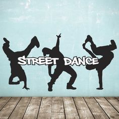 Street Dance Wall Stickers - Pack - Dancers and Text: Amazon.co.uk: Kitchen & Home